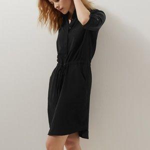 Lou & Grey Silk Washed Shirt Dress Size Medium